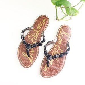 Sam Edelman Gracelyn Black Jeweled Sandals